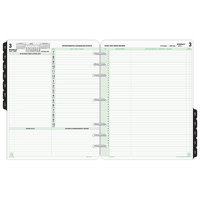 Day-Timer 94800 8 1/2 inch x 11 inch Reference Dated Two-Page-Per-Day 2020 Organizer Refill