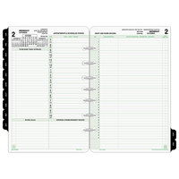 Day-Timer 92800 5 1/2 inch x 8 1/2 inch Reference Dated Two-Page-Per-Day 2020 Organizer Refill