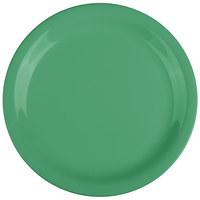 GET NP-7-FG Diamond Mardi Gras 7 1/4 inch Rainforest Green Narrow Rim Round Melamine Plate - 48/Case