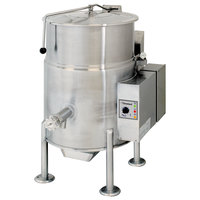 Cleveland KGL-25 Natural Gas 25 Gallon Stationary 2/3 Steam Jacketed Kettle - 90,000 BTU