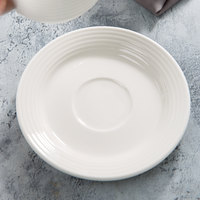 Villeroy & Boch 16-3326-1280 Perimeter 6 inch White Porcelain Saucer - 6/Case