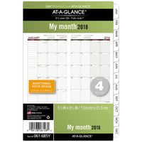 Day Runner 061685Y 5 1/2 inch x 8 1/2 inch Monthly Planning Pages 2019 Planner Refill