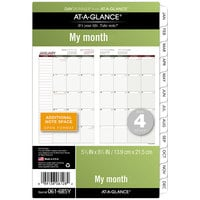 Day Runner 061685Y 5 1/2 inch x 8 1/2 inch Monthly Planning Pages 2020 Planner Refill