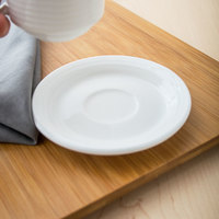 Villeroy & Boch 16-3326-1460 Perimeter 4 3/4 inch White Porcelain Saucer - 6/Case