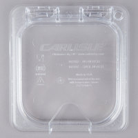 Carlisle 10319Z07 StorPlus EZ Access 1/6 Size Clear Polycarbonate Hinged Lid with One Notch