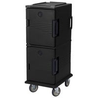 Cambro UPC800SP110 Black Camcart Ultra Pan Carrier - Front Load Tamper Resistant