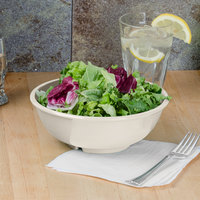 Thunder Group CR5807V 32 oz. Ivory Melamine Salad Bowl - 12/Case