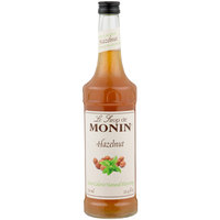 Monin 750 mL Zero Calorie Natural Hazelnut Flavoring Syrup