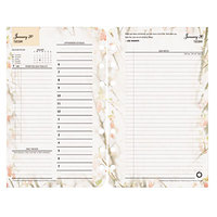 Franklin Covey 35438 Blooms 4 3/4 inch x 6 3/4 inch Dated Daily 2019 Planner Refill