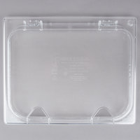 Carlisle 10240Z07 StorPlus EZ Access 1/2 Size Clear Polycarbonate Hinged Lid with Two Notches