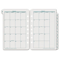 Franklin Covey 35399 5 1/2 inch x 8 1/2 inch Dated Monthly 2019 Planner Refill