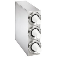 Vollrath 58823-D-D-D 8 - 44 oz. Countertop 3 Slot Stainless Steel Adjustable Cup Dispenser Cabinet