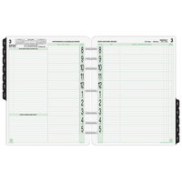 Day-Timer 94010 8 1/2 inch x 11 inch White / Green Two-Page-Per-Day 2019 Planner Refill