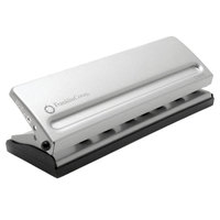 Franklin Covey 22997 4 Sheet Gray 7 Hole Punch - 1/4 inch Holes