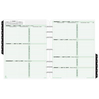 Day-Timer 93010 8 1/2 inch x 11 inch Dated Two-Page-Per-Week 2019 Organizer Refill