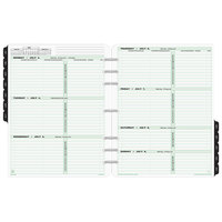 Day-Timer 93010 8 1/2 inch x 11 inch Dated Two-Page-Per-Week 2020 Organizer Refill