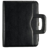 Day-Timer 43701 Avalon 8 1/2 inch x 11 inch Black Leather-Like Vinyl Appointment Book Starter Set