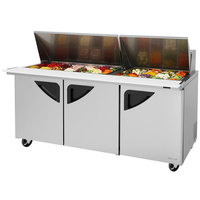 Turbo Air TST-72SD-30 72 inch 3 Door Mega Top Refrigerated Sandwich Prep Table