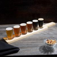 Acopa Tasting Flight Set - 6 Barbary Sampler Glasses with Natural Wood Taster Paddle