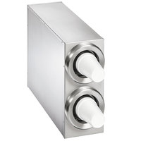 Vollrath 58822-D-D 8 - 44 oz. Countertop 2 Slot Stainless Steel Adjustable Cup Dispenser Cabinet