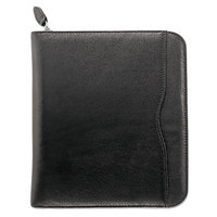 Day-Timer 83151 Verona 8 1/2 inch x 11 inch Black Leather Appointment Book Starter Set