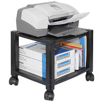Kantek PS510 Black 2-Shelf Mobile Printer Stand - 17 inch x 13 1/4 inch x 14 1/8 inch