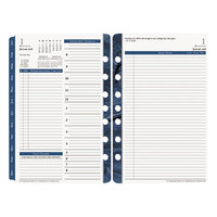 Franklin Covey 36229 Monticello 5 1/2 inch x 8 1/2 inch Dated Two-Page-Per-Day 2019 Planner Refill