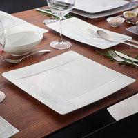 Villeroy & Boch 10-4510-2600 Modern Grace 12 1/2 inch x 12 1/2 inch White Bone Porcelain Square Plate - 6/Pack