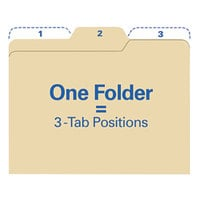 find It FT07046 Letter Size File Folder - Guide Height with 1/3 Cut Assorted Tab, Manilla - 80/Pack