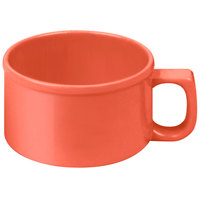 Thunder Group CR9016RD 10 oz. Orange Melamine Soup Mug with Handle - 12/Pack