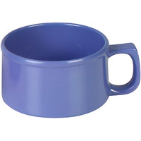 Thunder Group CR9016BU 10 oz. Purple Melamine Soup Mug with Handle - 12/Pack