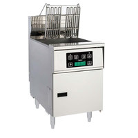 Anets AEH14X D 40-50 lb. High Efficiency Electric Floor Fryer with Digital Controls - 208V, 1 Phase, 14 kW