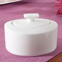 Villeroy & Boch 10-4510-0960 Modern Grace 11 oz. White Bone Porcelain Sugar Bowl - 6/Pack