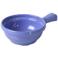 Thunder Group CR305BU 10 oz. Purple Melamine Soup Bowl with Handle - 12/Pack