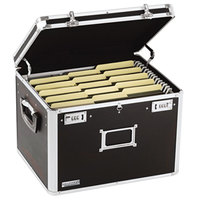 Vaultz VZ01008 Black Letter / Legal Sized Locking File Chest - 17 1/2 inch x 14 inch x 12 1/2 inch