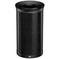 Rubbermaid 1970197 Enhance 33 Gallon Ebony Round Trash Can with Jet Black Frame