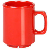 Thunder Group CR9010PR 8 oz. Pure Red Melamine Mug - 12/Pack