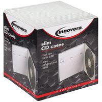 Innovera 81900 Clear Slim CD / DVD Case - 25/Pack