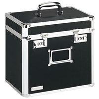 Vaultz VZ01165 Black Letter Sized Locking File Chest - 13 1/2 inch x 10 1/2 inch x 13 1/4 inch