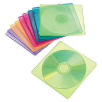 Innovera 81910 Assorted Color Slim CD / DVD Case - 10/Pack