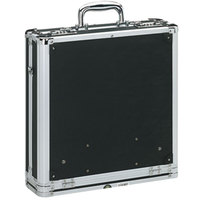 Vaultz VZ01076 Black 200 Disc Locking Media Binder - 14 1/4 inch x 14 1/4 inch x 4 3/4 inch