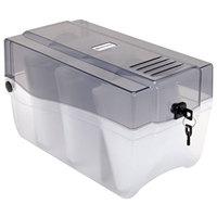 Innovera 39502 150 Disc Clear / Smoke CD / DVD Storage Case - 6 3/8 inch x 11 3/4 inch x 6 5/8 inch