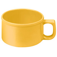 Thunder Group CR9016YW 10 oz. Yellow Melamine Soup Mug with Handle - 12/Pack