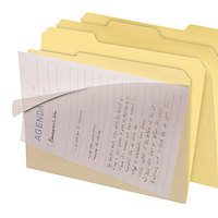 find It FT07186 Letter Size File Folder - Interior Height with 1/3 Cut Assorted Tab and Clear Cover, Manilla - 8/Pack