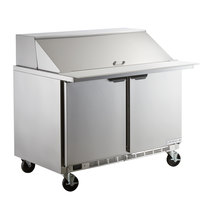 Beverage-Air SPE48-18M Elite Series 48 inch 2 Door Mega Top Refrigerated Sandwich Prep Table