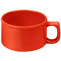 Thunder Group CR9016PR 10 oz. Pure Red Melamine Soup Mug with Handle - 12/Pack