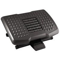 Kantek FR750 18 inch x 13 inch x 4 inch Black Premium Adjustable Footrest with Rollers