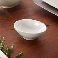Villeroy & Boch 10-4510-3932 Modern Grace 1.5 oz. White Bone Porcelain Dip Bowl - 6/Case