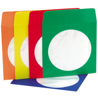 Innovera 39404 5 inch x 5 inch Assorted Color CD / DVD Sleeve - 50/Pack