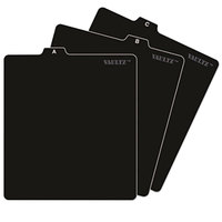 Vaultz VZ01176 5 inch x 5 3/4 inch Black A-Z CD File Guides
